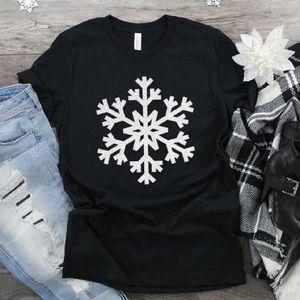 Snowflake TShirt NEW Black Sz XS - 4XL